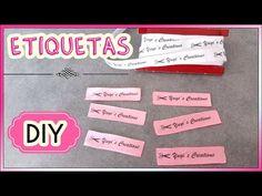 CREA TUS PROPIAS ETIQUETAS | Yuyi's Creations - YouTube Hippie Chic, Handicraft, Blue Moon, Tips, Youtube, Camera Phone, Baby Shower, Crochet, Sweet