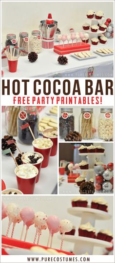 How to Style a Hot Cocoa Bar plus Free #Printables - PureCostumes.com/blog #holidays #christmas