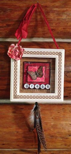 DREAMS ALTERED ART shadow box mixed media by ThePokeyPoodle