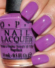 Opi nail polish, this electric purple nail color is perfect for the summer time! #nails