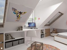 Prywatna łazienka w tle sypialni - Pokój dziecka - Styl Nowoczesny - GSG STUDIO | interiors & design