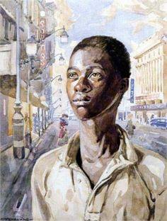 Artist: George Pemba Completion Date: 1948 Style: Social Realism Genre: portrait African American Artist, American Artists, South Africa Art, Black Art Pictures, Jr Art, South African Artists, Art Database, Art Music, Portrait