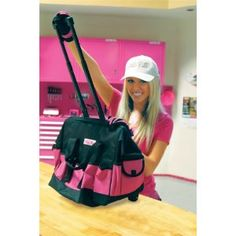 Need this for all my finger nail polish! So much easier to take to someone's house to do nails! Tool Bag With Wheels, Pink Tool Box, Tools For Women, Pink Stuff, Everything Pink, Girly Things, Pretty In Pink, Hot Pink, Totes