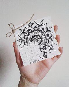 Си направив мини календарче за Март со мандала :') by dmregent from Instagram