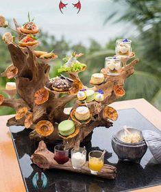 Luxury Koh Samui Afternoon Tea At Four Seasons<br> Afternoon Tea Stand, Afternoon Delight, Afternoon Tea Parties, High Tea Food, Food Platters, Plate, Appetizers For Party, Creative Food, Food Design