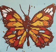Butterfly, drip art, mch artwork Drip Art, Messy Art, Butterfly, Artwork, Color, Work Of Art, Auguste Rodin Artwork, Colour, Artworks