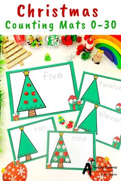 Looking for Christmas math printables for kids? then check these gorgeous math centers for learning to identify numbers and count 0-30. There's so many variations including with and without ten frames, digits and numbers as words. Your kids will love them this holiday season! Teaching Numbers, Numbers Kindergarten, Preschool Classroom, Classroom Activities, Christmas Math, Christmas Activities, Christmas Printables, Learning Centers, Math Centers