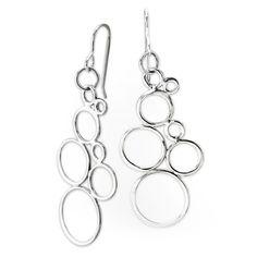 Sterling Silver Bubble Earrings