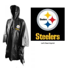 Pittsburgh Steelers NFL Black Adult Poncho #Pittsburgh #Steelers | Steel City Collectibles