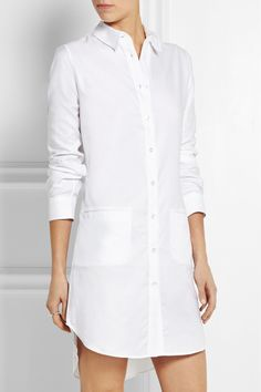 J.W.Anderson | Cotton-piqué shirt dress | NET-A-PORTER.COM
