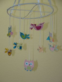 Small Hayley Bird and Owl Baby Mobile by magicalwhimsy on Etsy, $32.00