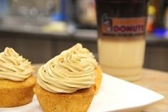Culinary Corner: Caramel Macchiato Cupcakes from Dunkin Donuts. Cappy