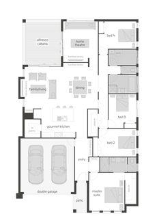 Portobello floor plan by McDonald Jones. Exclusive to Queensland. #floorplan, #housedesigns, #mcdonaldjones