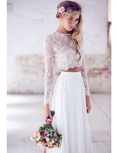 Robe de mariée haut dentelle - 30 robes de mariée en dentelle repérées sur Pinterest - Elle
