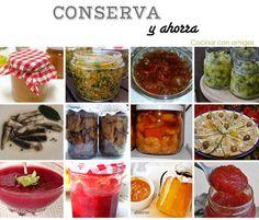 Todo lo que necesitas conocer para hacer conservas e ideas para hacer 12 tipos distintos Kitchen Hacks, Simple Way, Preserves, Pesto, Mousse, Favorite Recipes, Vegan, Canning, Vegetables