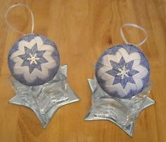 Crafter without a Cat: Snowflake Ornaments