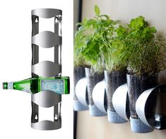 """If you want to start an <a href=""""http://www.curbly.com/users/faith-towers/posts/15005-how-to-indoor-herb-garden-ikea-hack"""" target=""""_blank"""">indoor herb garden</a>, make it happen with a <a href=""""http://www.ikea.com/us/en/catalog/products/30055760/"""" target=""""_blank"""">wine rack</a>."""
