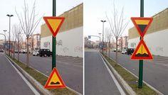 Cultura Inquieta - Artista callejero provoca a las mentes perezosas con sus ingeniosas intervenciones urbanas