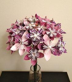 Casamento DIY - Bouquet de origamis