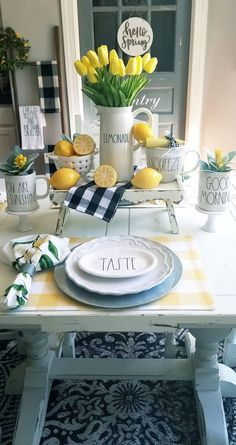 Stunning Summer Dining Table Decor Ideas You Should Copy - It's time for summer celebrations, entertaining family and friends. If you're serving food, your buffet table will take center stage. Our rule for sum.