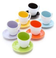 glazed espresso cup set