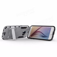 2 in 1 Armor Shockproof Back Case Phone Holder Protective Shell Stand Mount for…