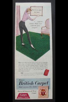 Cool vintage carpet adverts Carpet, Cool Stuff, Cover, Books, Free, Vintage, Libros, Book, Rug
