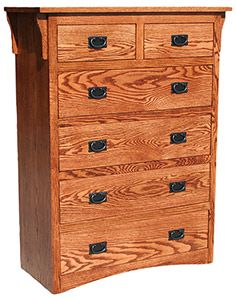 - Mission Oak 6 Drawer Chest 40 W x D x 52 H Dove-tailed drawers, full-extension ball-bearing drawer glides Fully assembled Oak solids and veneers over plywood - no particle board Made in USA Comes in a variety of finish choices Oak Bedroom Furniture, Mission Furniture, Bedroom Dressers, Rustic Furniture, Mexican Furniture, Six Drawer Dresser, Southwestern Home, Mission Oak, Particle Board