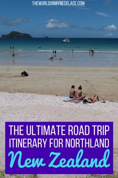 Northland, New Zealand is a popular destination for tourists visiting the North Island and rightly so. With incredible white sand beaches, turquoise water, native forest and charming small towns, a Northland New Zealand Road Trip should be a priority if visiting New Zealand in summer. Click through to  read my Ultimate Northland New Zealand Road Trip. | The World on my Necklace #roadtrip #northland #capereinga #newzealand