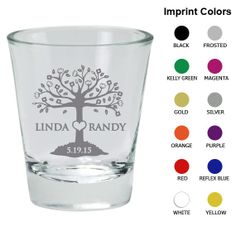Wedding Shot Glass Favors Clipart 1144 Tree of by MyWeddingStore, $85.00