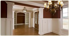 Living Room Half Wall Ideas Installing Trim And Panels