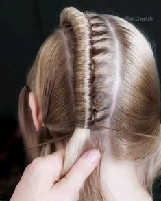 Easy Hairstyles For Long Hair, Braids For Long Hair, Braided Hairstyles, How To Braid Hair, Hair Jewelry For Braids, Braided Mohawk, Holiday Hairstyles, Box Braids, Curly Hair Styles