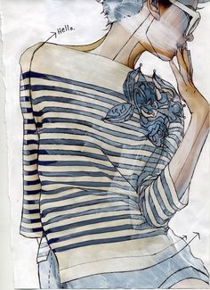Fashion illustration @Tessa McDaniel McDaniel McDaniel McDaniel Chapman #illustration #painting #drawing