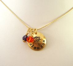 #Clemson Tigers handmade necklace