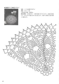 "Photo from album ""Kyoko Kawashima - Beautiful Crochet Lace on Yandex. Crochet Doily Diagram, Crochet Pillow Pattern, Crochet Doily Patterns, Crochet Chart, Thread Crochet, Crochet Doilies, Crochet Flowers, Crochet Lace, Crochet Dreamcatcher"