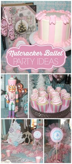 A nutcracker ballet themed first birthday party for a sweet girl with an amazing dessert table!  See more party planning ideas at CatchMyParty.com!