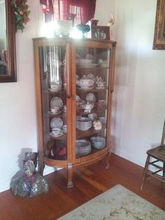 Antique China Hutch by BuckyKnitwareAntique on Etsy, $600.00