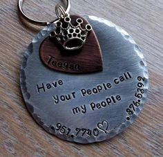 "Have your people call my people -LARGE 2"" Pet ID Tag for BIG Furkids Crown, heart ~ $18.50"