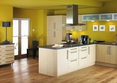 Kitchen, Choosing Colors For Kitchen Walls And Cabinets Modern Kitchen  Decorating Ideas With White Kitchen Cabinet And Kitchen Paint Colors  Contrasting ...