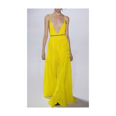 Yellow a line dress plunging neckline dress yellow dress and plunge