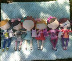 Cut & sew fabric doll kits by stacyiesthsu on Spoonflower - custom fabric