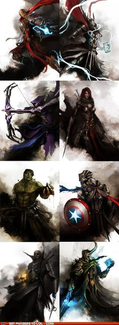 sci fi fantasy - The Avengers are Dark Fantasy Characters