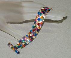 Patchwork sauvage de grand-mère... Bracelet facilement.