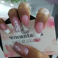 french nails tips Hairstyles Love Nails, Pretty Nails, Fun Nails, Green Nails, White Nails, Diy Acrylic Nails, Line Nail Art, Baby Nails, Luxury Nails