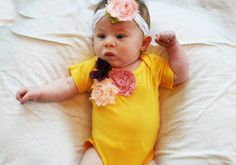 Baby Girl Outfit // Baby Girl Clothes // Hand Dyed by wildjuniper, $25.00