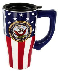 U.S. Navy Ceramic Travel Mug at The Animal Rescue Site
