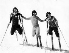 70's skiing Style - Great hair boys!