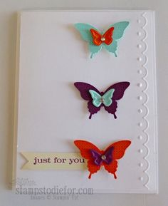 Stampin' Up! Papillon Potpourri Stamp Set  Elegant Butterfly Punch