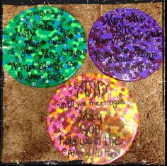 "Homemade sun catchers garnished with a lovely Irish Blessing for a friend's birthday! -Melt plastic pony beads at 400* in a non stick pan. -""Glass"" dries very quickly and will pop right out of the pan! So easy and lovely!"