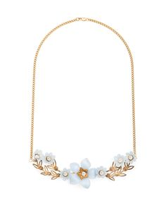 """lovely """"something blue"""" neckace and only 60 dollars - if you're a bride who loves gold this beauty is for you!"""